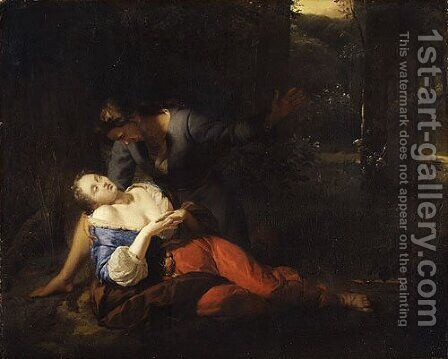 Cephalus and Procris by Godfried Schalcken - Reproduction Oil Painting