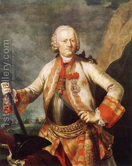 Portrait of Karoly Jozsef Batthysany 1760s by Martin II Mytens or Meytens - Reproduction Oil Painting
