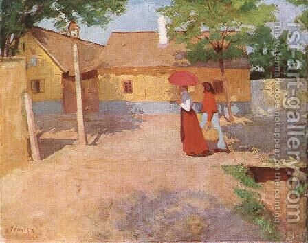 Forenoon in a Provincial Town 1904 by De Lorme and Ludolf De Jongh Anthonie - Reproduction Oil Painting