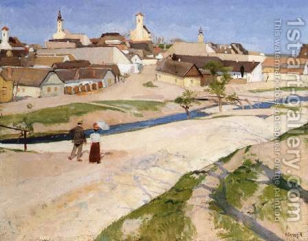 Landscape at Szentendre 1907-08 by De Lorme and Ludolf De Jongh Anthonie - Reproduction Oil Painting