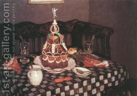 The Layer Cake 1912 by De Lorme and Ludolf De Jongh Anthonie - Reproduction Oil Painting