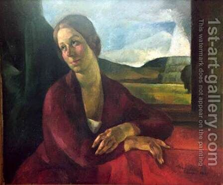 Portrait of Rigo Manci 1925 by Gyula Rudnay - Reproduction Oil Painting