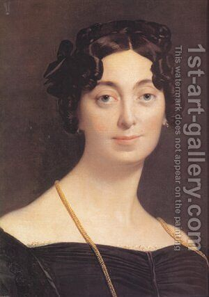 Madame Leblanc by Jean Auguste Dominique Ingres - Reproduction Oil Painting
