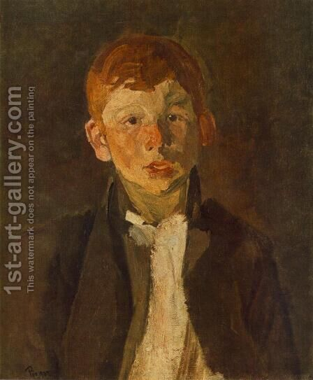 Red haired Gipsy Boy 1903 by Bela Onodi - Reproduction Oil Painting