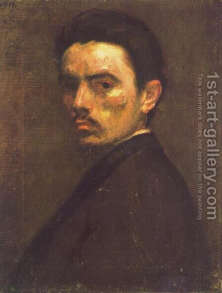 Self portrait 1902 by Bela Onodi - Reproduction Oil Painting