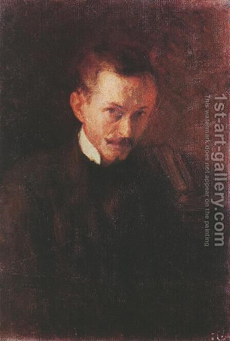 Self portrait 1898 by Istvan Boldizsar - Reproduction Oil Painting