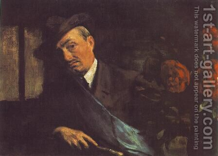 Self portrait 1920 by Istvan Boldizsar - Reproduction Oil Painting