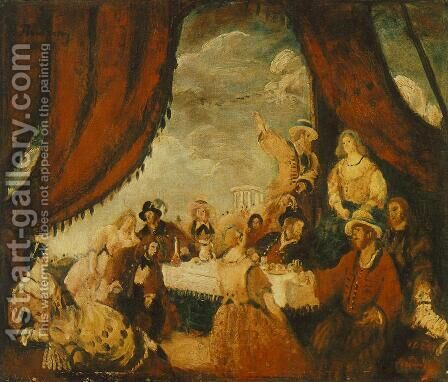 Bohemians 1924 by Gyorgy Roman - Reproduction Oil Painting