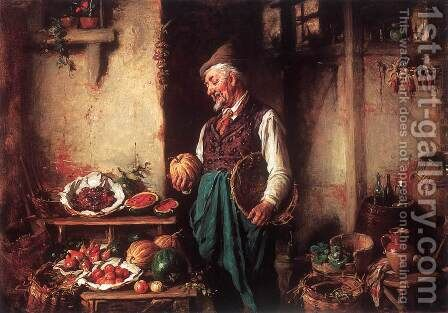 In the Pantry by Hermann Kern - Reproduction Oil Painting
