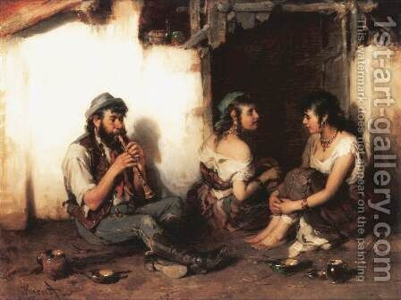 Piping by Hermann Kern - Reproduction Oil Painting