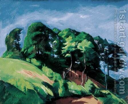 Line of Trees 1917 by Istvan Desi-Huber - Reproduction Oil Painting