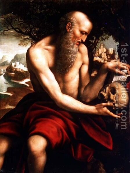 St Jerome by Cesare da Sesto - Reproduction Oil Painting