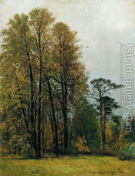 Autumn 1892 by Ivan Shishkin - Reproduction Oil Painting