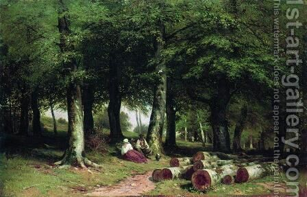 In The Grove 1869 by Ivan Shishkin - Reproduction Oil Painting
