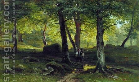 In The Grove 2 1865 by Ivan Shishkin - Reproduction Oil Painting