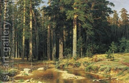 Mast Tree Grove 1898 by Ivan Shishkin - Reproduction Oil Painting