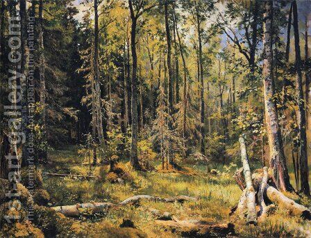 Mixed Forest Shmetsk Near Narva 1888 by Ivan Shishkin - Reproduction Oil Painting
