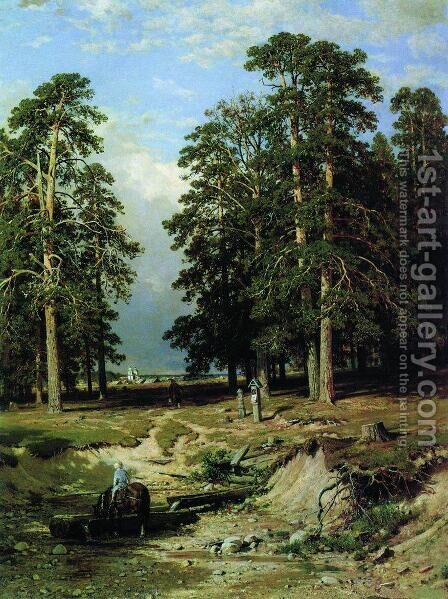 The Holy Spring Near Yelabuga 1886 by Ivan Shishkin - Reproduction Oil Painting