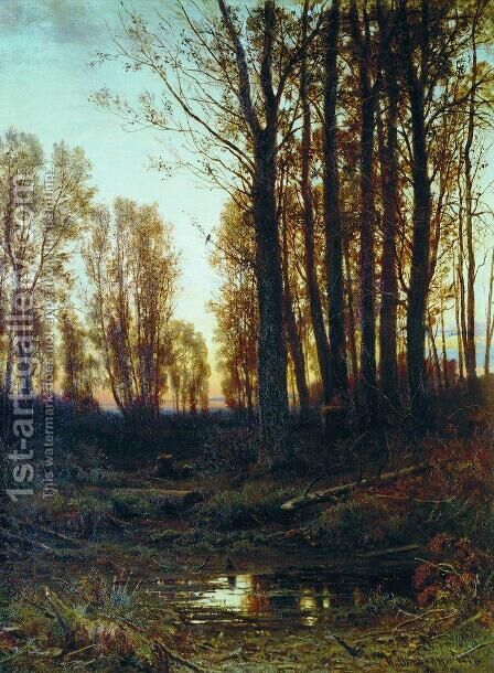 Twilight After Sunset 1874 by Ivan Shishkin - Reproduction Oil Painting