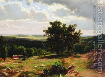 View Near Dusseldorf 1865 by Ivan Shishkin - Reproduction Oil Painting