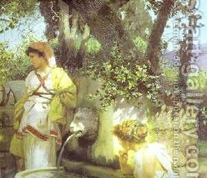 By A Spring Detail 1898 by Henryk Hector Siemiradzki - Reproduction Oil Painting