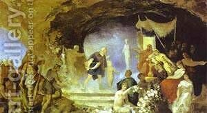 Orpheus In The Underworld 1880s by Henryk Hector Siemiradzki - Reproduction Oil Painting