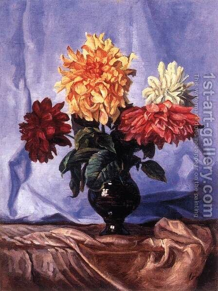 Summer Floer Bouquet by Dezso Kormiss - Reproduction Oil Painting
