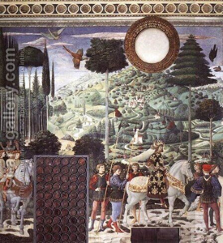 Procession of the Middle King 1459 1460 by Benozzo di Lese di Sandro Gozzoli - Reproduction Oil Painting