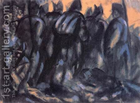 Soldiers 1916 by Bela Kondor - Reproduction Oil Painting