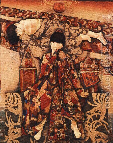 Japanese Picture 082 by Bertalan Por - Reproduction Oil Painting