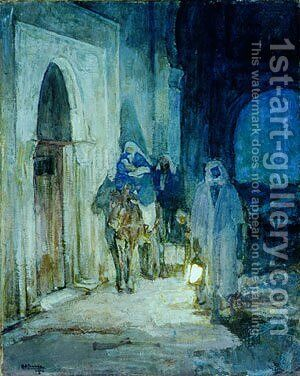 Flight Into Egypt 1923 by Henry Ossawa Tanner - Reproduction Oil Painting