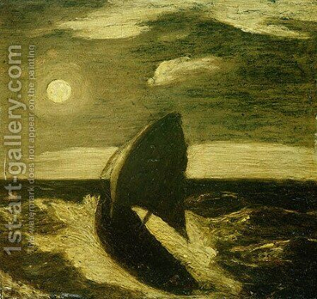 The Toilers of the Sea 1880 by Albert Pinkham Ryder - Reproduction Oil Painting