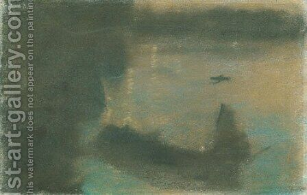 Mysterious Barges II by Arthur Bowen Davies - Reproduction Oil Painting