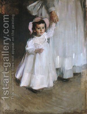 Ernesta (Child with Nurse) 1894 by Beaux Cecilia - Reproduction Oil Painting