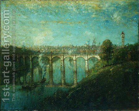 High Bridge New York 1905 by Henry Ward Ranger - Reproduction Oil Painting