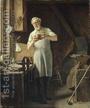 The Coppersmith 1898 by Edgar Melville Ward - Reproduction Oil Painting