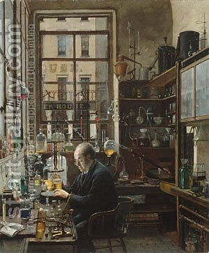 In the Laboratory by Henry Alexander - Reproduction Oil Painting