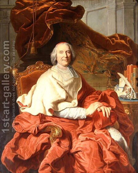 Cardinal Fleury by Hyacinthe Rigaud - Reproduction Oil Painting