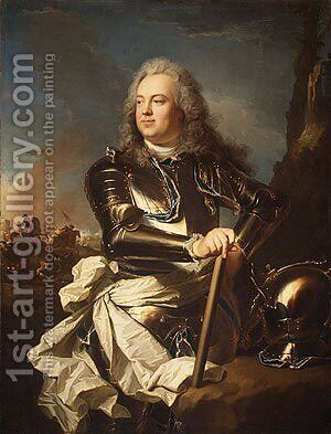 Henri Louis de la Tour d Auvergne 1679 by Hyacinthe Rigaud - Reproduction Oil Painting