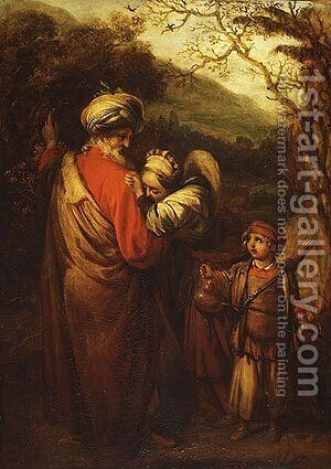 Hagar and Ishmael by Barent Fabritius - Reproduction Oil Painting