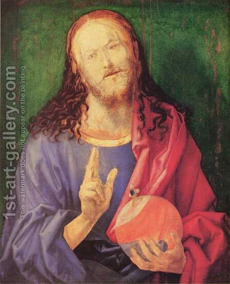 Salvator Mundi 2 by Albrecht Durer - Reproduction Oil Painting