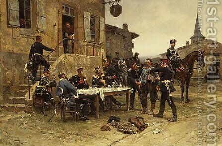 The Spy 1880 by Alphonse Marie de Neuville - Reproduction Oil Painting