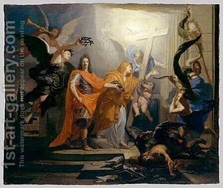 An Allegory Probably of the Peace of Utrecht of 1713 by Andras Mikola - Reproduction Oil Painting