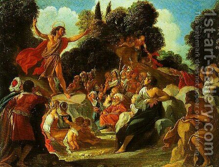 St John the Baptist Preaching by Anastasio Fontebuoni - Reproduction Oil Painting
