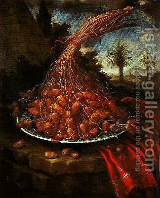A Bunch of Dates by Bartolommeo Bimbi - Reproduction Oil Painting