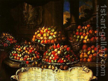 Pears by Bartolommeo Bimbi - Reproduction Oil Painting
