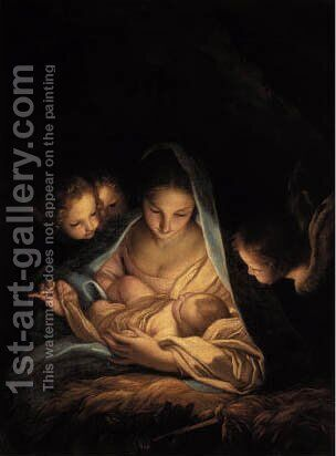 The Holy Night by Carlo Maratta or Maratti - Reproduction Oil Painting