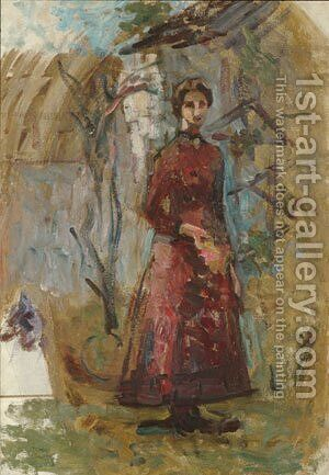 Annie Sargent Jewett 1905 2 by Anonymous Artist - Reproduction Oil Painting