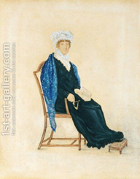 Portrait of Mrs. Crofts 1815 by Anonymous Artist - Reproduction Oil Painting