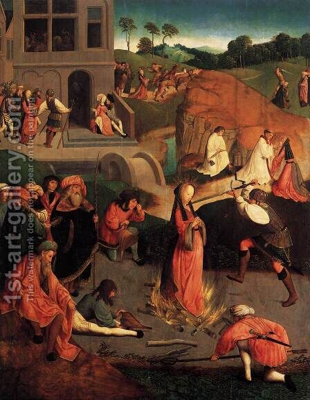 The Martyrdom of St Lucy 1500 by Anonymous Artist - Reproduction Oil Painting